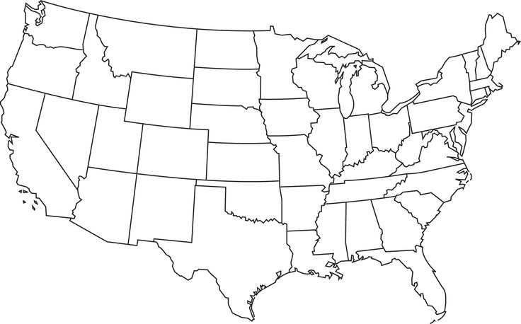Blank Map Of Usa 50 States – Ngemapservicedapartmentsco